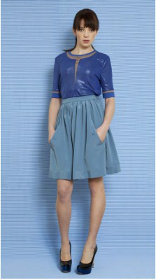 Maria Moderna Front Line Top and Wide Pocket Skirt